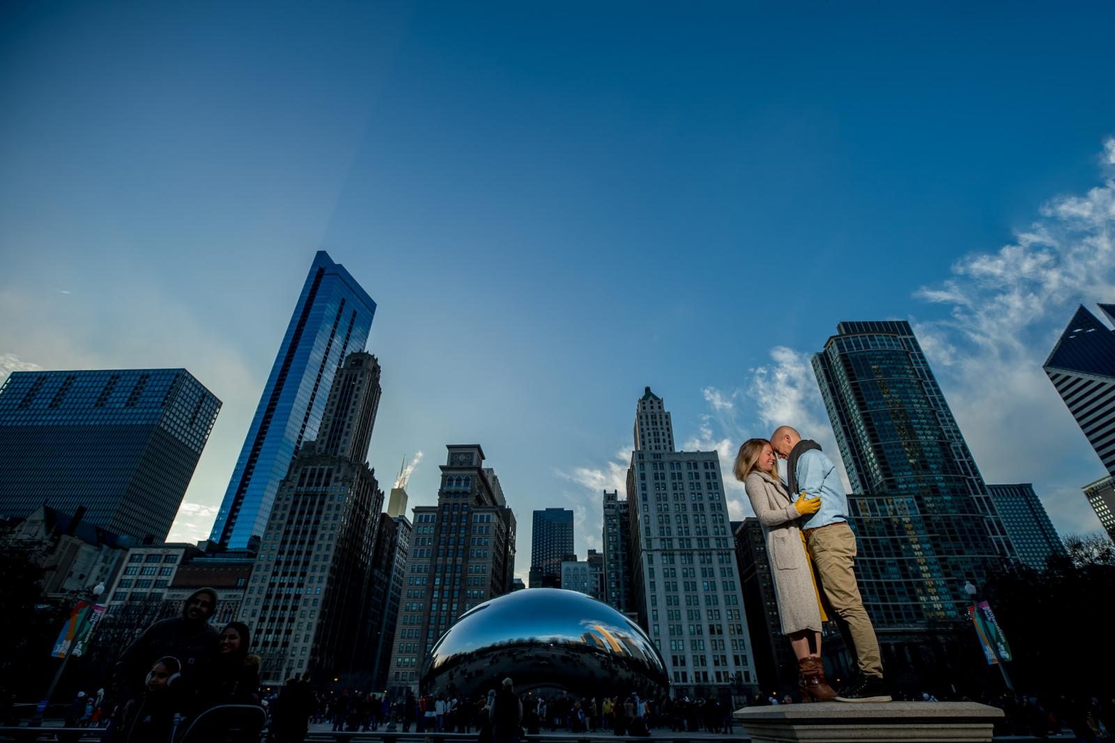 Loveshoot downtown Chicago