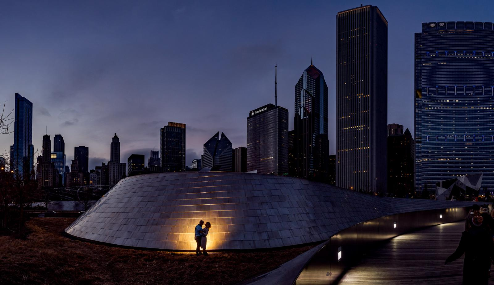 Skyline Chicago destination loveshoot Amerika